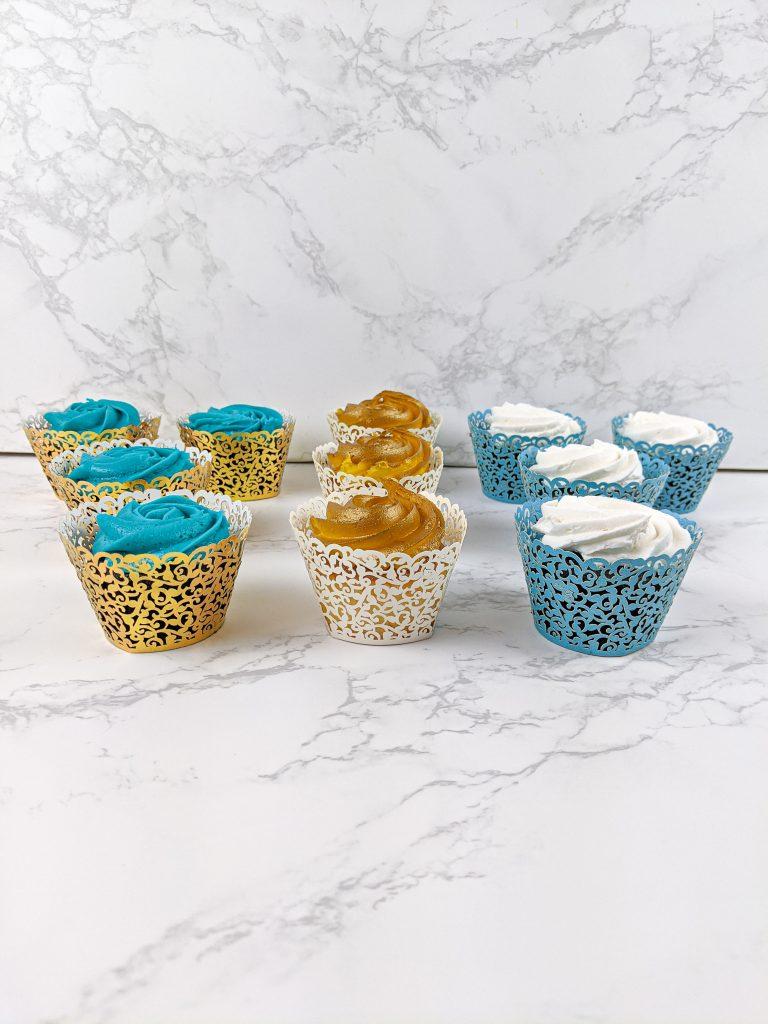 Cupcakes in elegant liners
