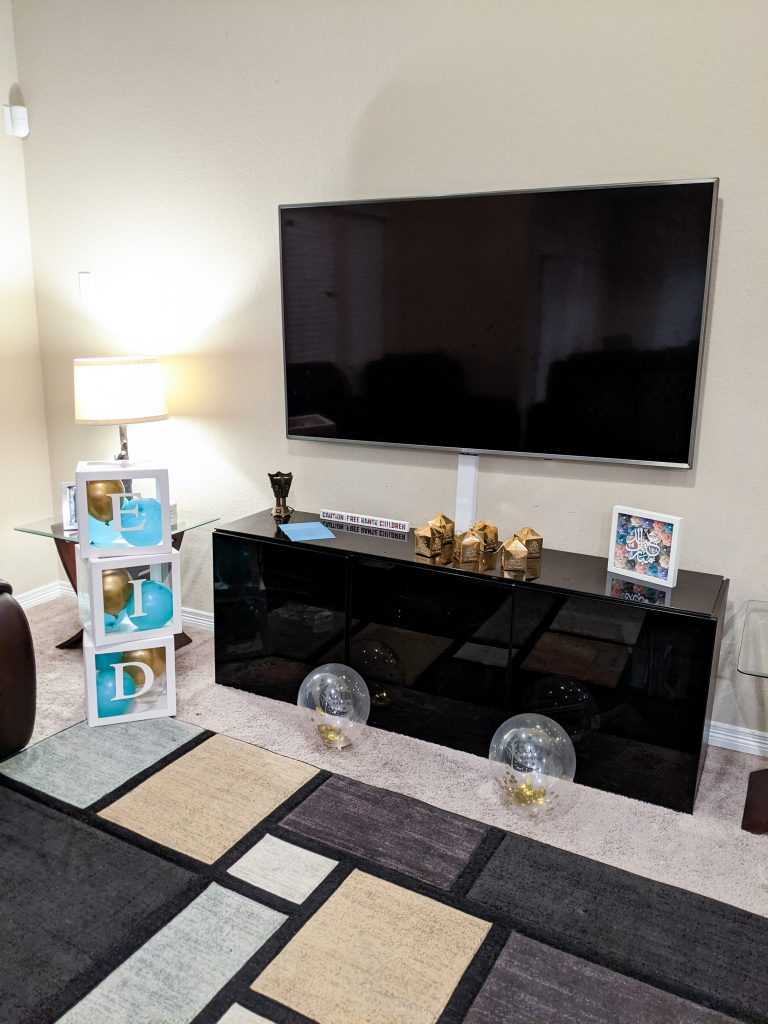 Family room with Eid decoration